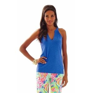 Lilly Pulitzer blue tunic tank top